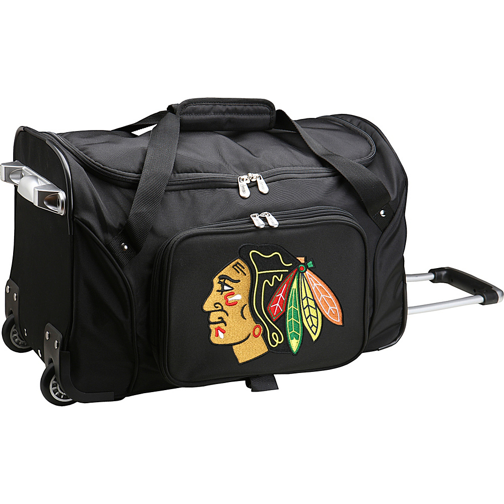 Denco Sports Luggage NHL 22 Rolling Duffel Chicago Blackhawks - Denco Sports Luggage Rolling Duffels - Luggage, Rolling Duffels
