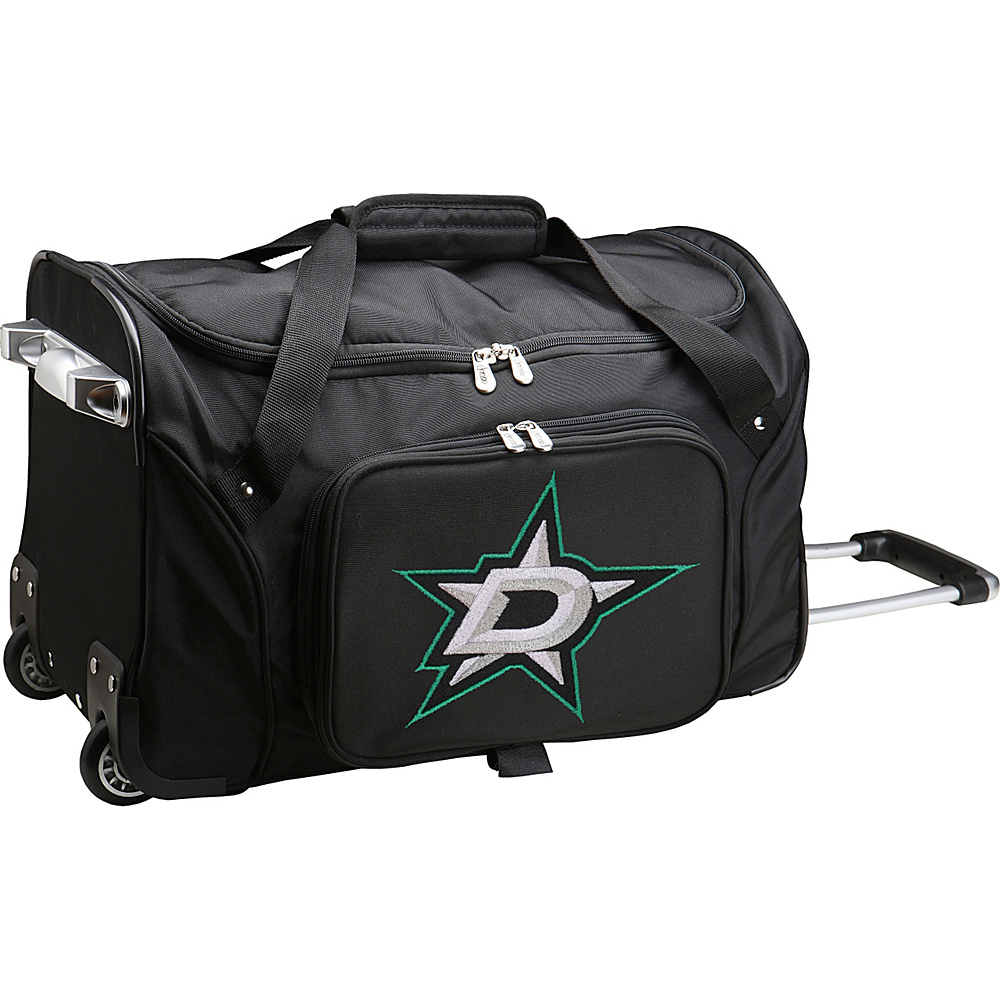 Denco Sports Luggage NHL 22 Rolling Duffel Dallas Stars - Denco Sports Luggage Rolling Duffels - Luggage, Rolling Duffels