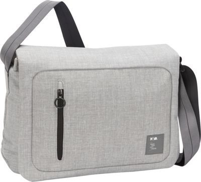 Nava Dot_Com 2.0 Messenger Light Grey/Black - Nava Messenger Bags