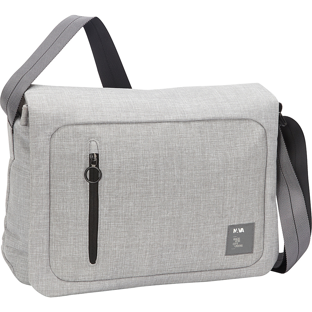 Nava Dot Com 2.0 Messenger Light Grey/Black - Nava Messenger Bags