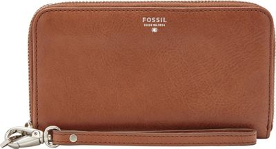 Fossil Sydney Zip Phone Wallet Brown - Fossil Ladies Small Wallets