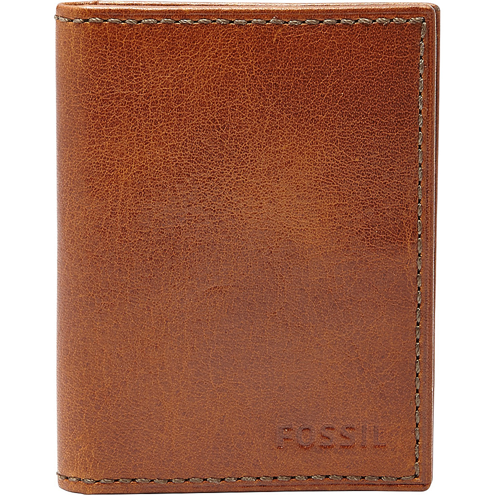 Fossil Conner Card Case Bifold Cognac - Fossil Mens Wallets - Work Bags & Briefcases, Men's Wallets