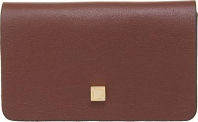 Lodis Blair Unlined Mini Card Case Chestnut/Cobalt - Lodis Business Accessories