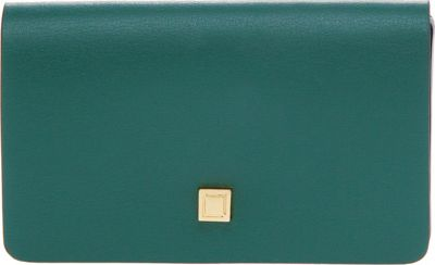 Lodis Blair Unlined Mini Card Case Green/Cobalt - Lodis Business Accessories