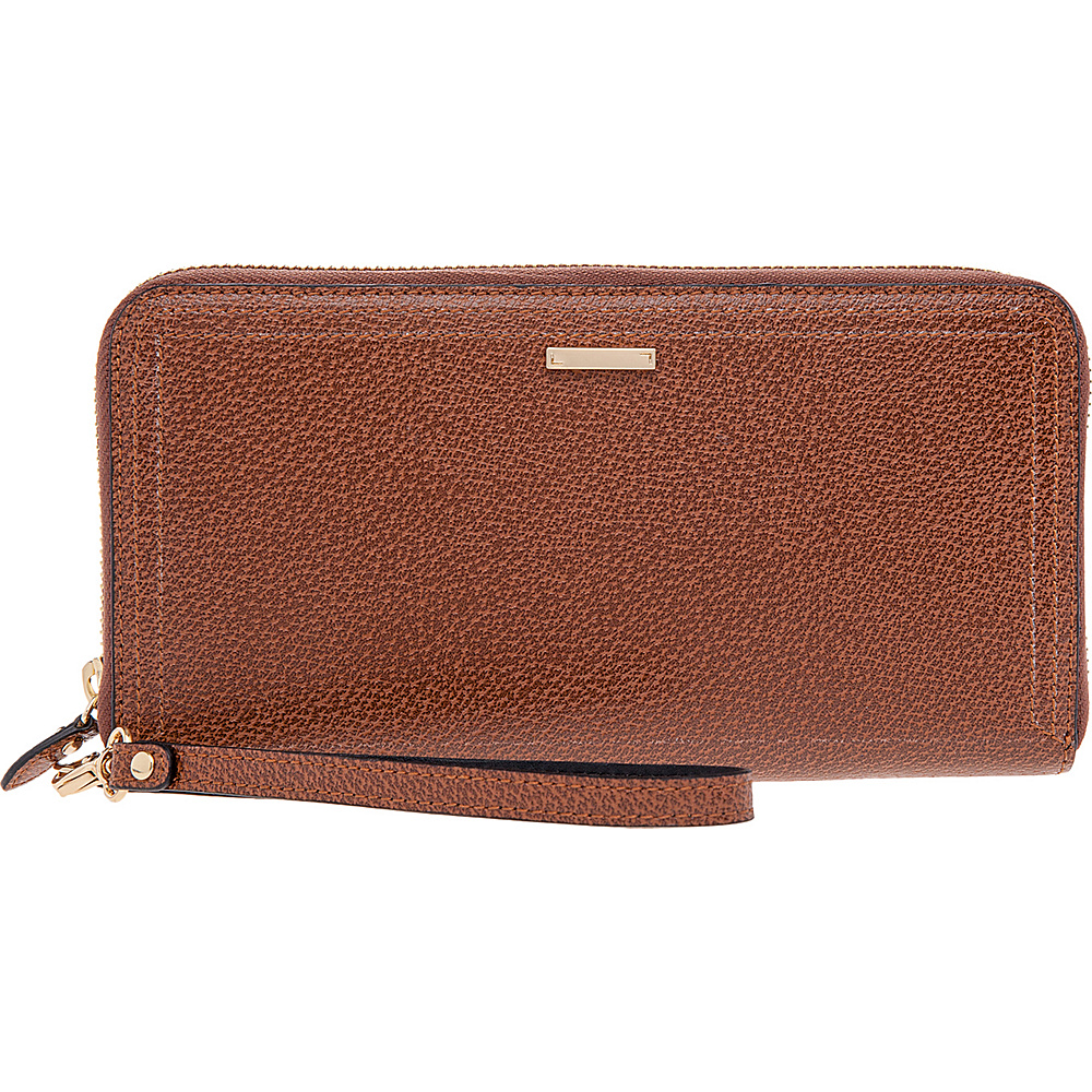 Lodis Stephanie Vera Wristlet Wallet with RFID Protection Chestnut Lodis Women s Wallets