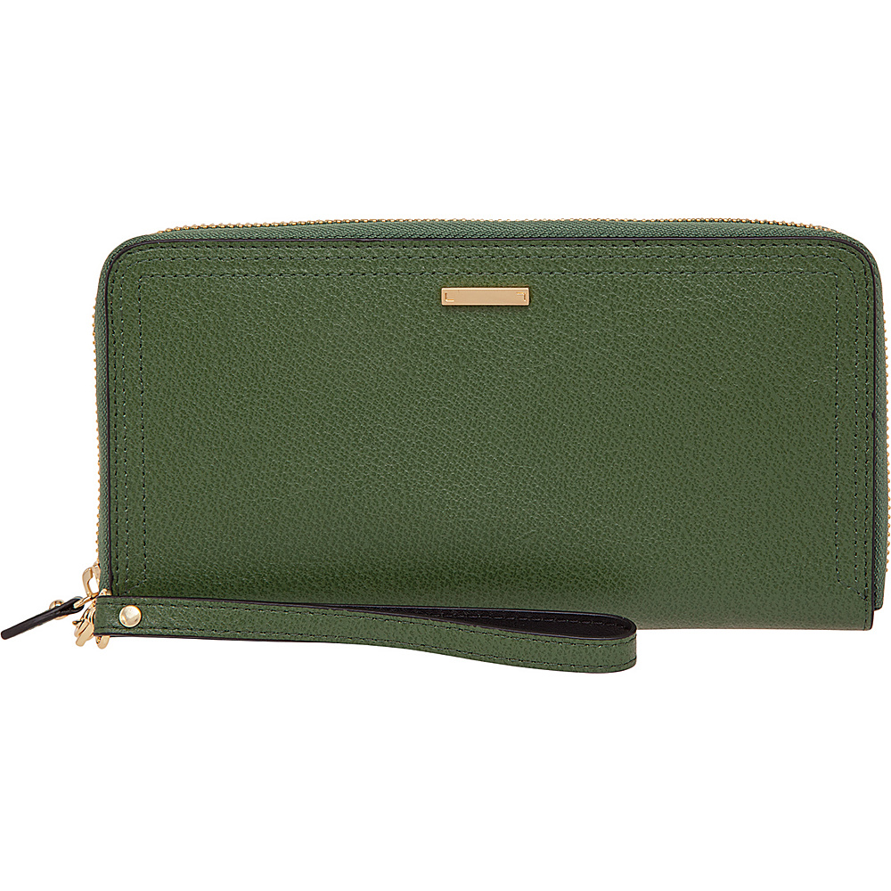Lodis Stephanie Vera Wristlet Wallet with RFID Protection Green Lodis Women s Wallets