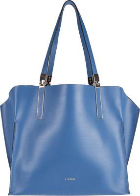 Lodis Blair Unlined Anita East West Multi-Function Satchel Denim/Taupe - Lodis Leather Handbags