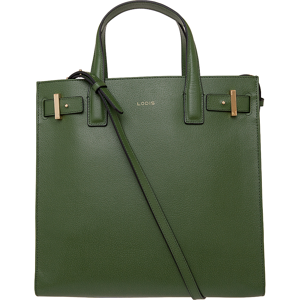 Lodis Stephanie Scarlet Tote with RFID Protection Green Lodis Leather Handbags