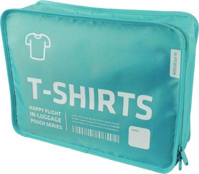 ALIFE DESIGN Alife Design T Shirt Packing Cubes Organizers Blue - ALIFE DESIGN Travel Organizers