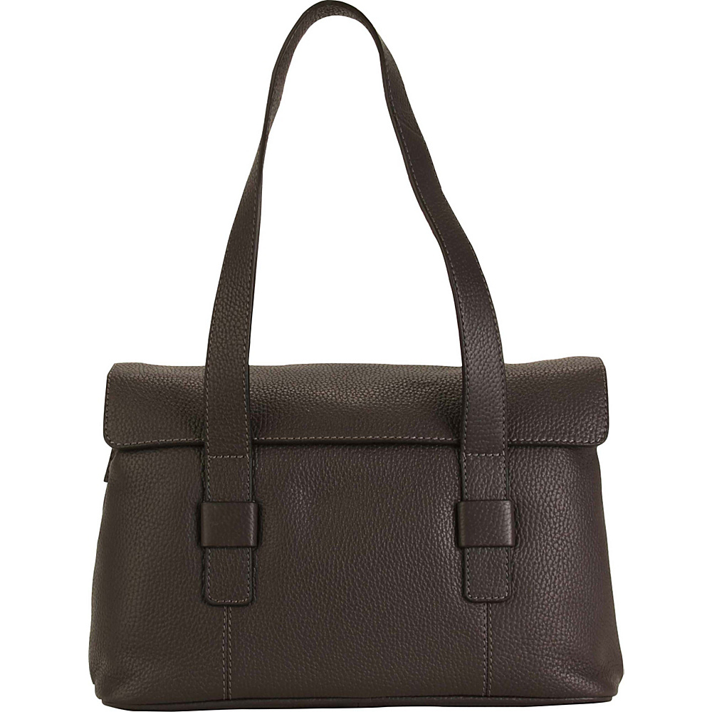 Hadaki Hannahs Shoulder Bag Shale Gray - Hadaki Leather Handbags - Handbags, Leather Handbags
