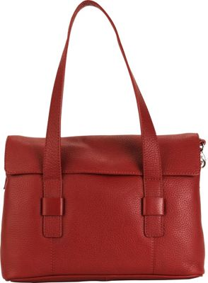 Hadaki Hannah's Shoulder Bag Deep Red - Hadaki Leather Handbags