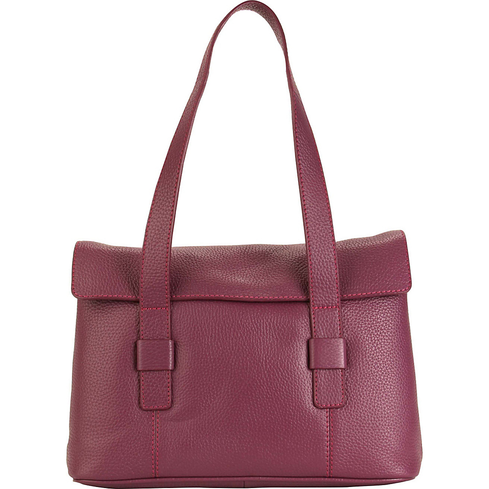 Hadaki Hannahs Shoulder Bag Plum - Hadaki Leather Handbags - Handbags, Leather Handbags