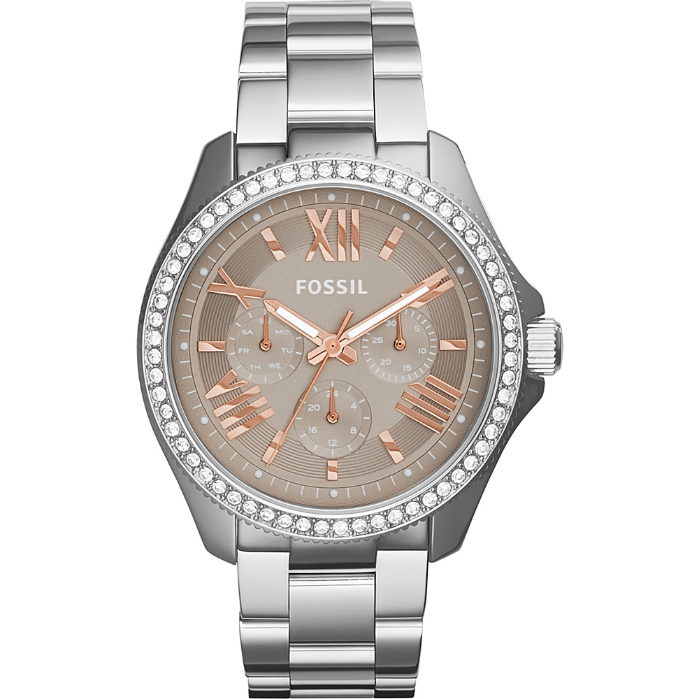 Fossil Cecile Multifunction Stainless Steel Watch Silver - Fossil Watches - Fashion Accessories, Watches