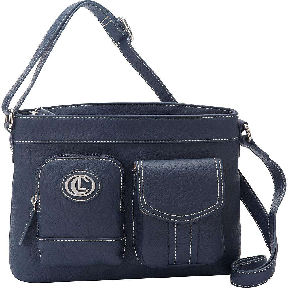 Aurielle Carryland E W Xbody Navy Aurielle Carryland Manmade Handbags
