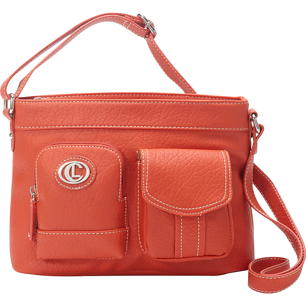 Aurielle Carryland E W Xbody Poppy Aurielle Carryland Manmade Handbags