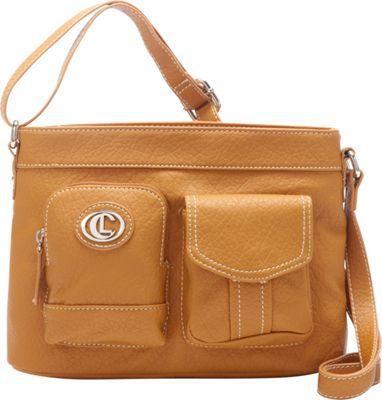 Aurielle-Carryland E/W Xbody Tan - Aurielle-Carryland Manmade Handbags