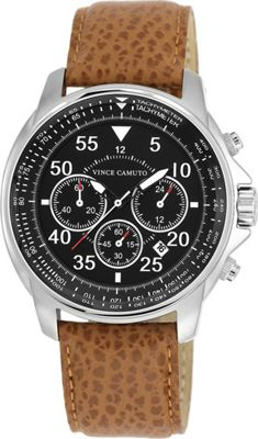vince camuto chronograph leather ebags