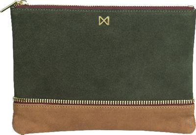MOFE Sage Clutch Moss/Taupe