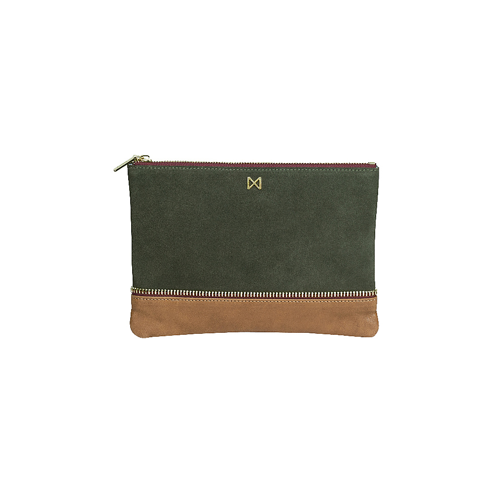 MOFE Sage Clutch Moss Taupe Gold MOFE Leather Handbags