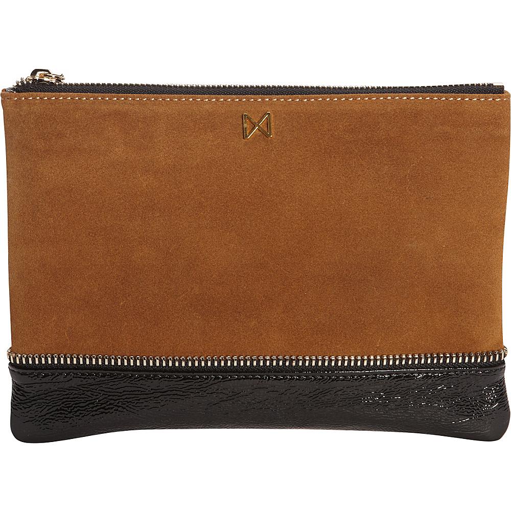 MOFE Sage Clutch Chestnut Black Gold MOFE Leather Handbags