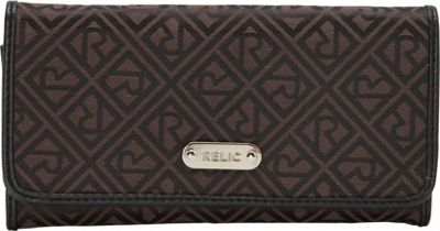 Relic Logo Checkbook Black/Brown - Relic Ladies Small Wallets