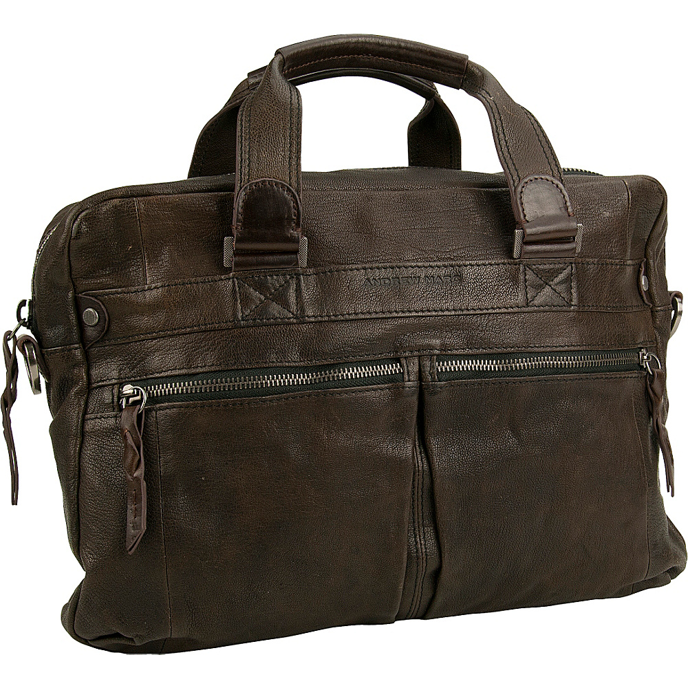 Andrew Marc Collection Bowery Top Handle Smog - Andrew Marc Collection Non-Wheeled Business Cases