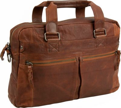 Image of Andrew Marc Collection Bowery Top Handle Cognac - Andrew Marc Collection Non-Wheeled Business Cases