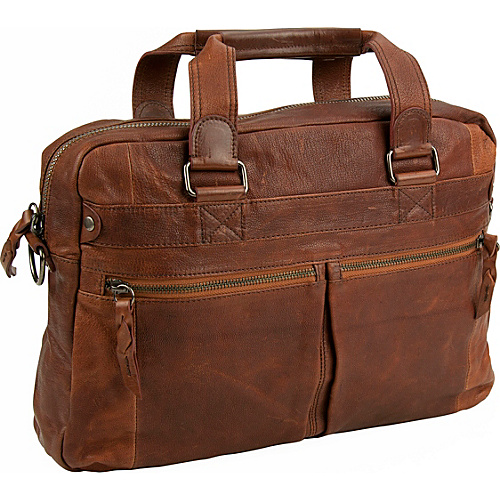 Andrew Marc Collection Bowery Top Handle Cognac - Andrew Marc Collection Non-Wheeled Business Cases