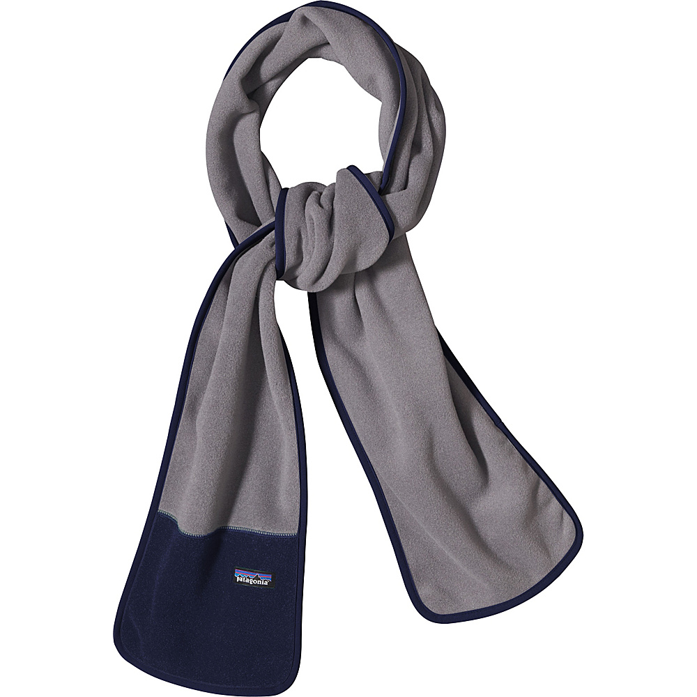Patagonia Synch Scarf Nickel w/Navy Blue - Patagonia Hats/Gloves/Scarves - Fashion Accessories, Hats/Gloves/Scarves