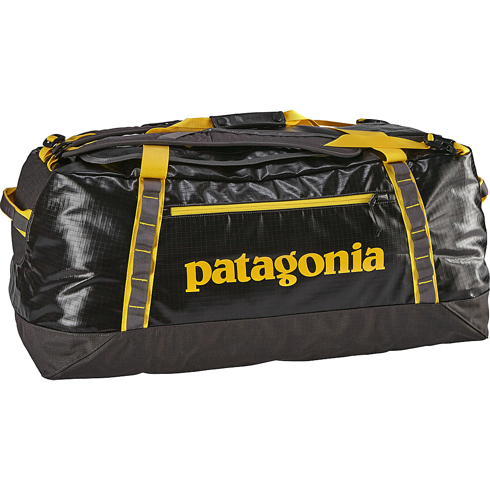 Patagonia Black Hole Duffle 90L Forge Grey/Chromatic Yellow - Patagonia Outdoor Duffels - Duffels, Outdoor Duffels