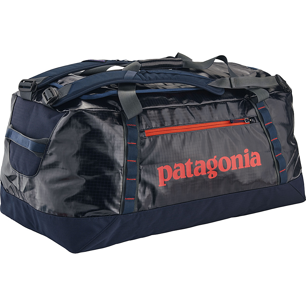 Patagonia Black Hole Duffle 90L Navy Blue w/Paintbrush Red - Patagonia Outdoor Duffels - Duffels, Outdoor Duffels