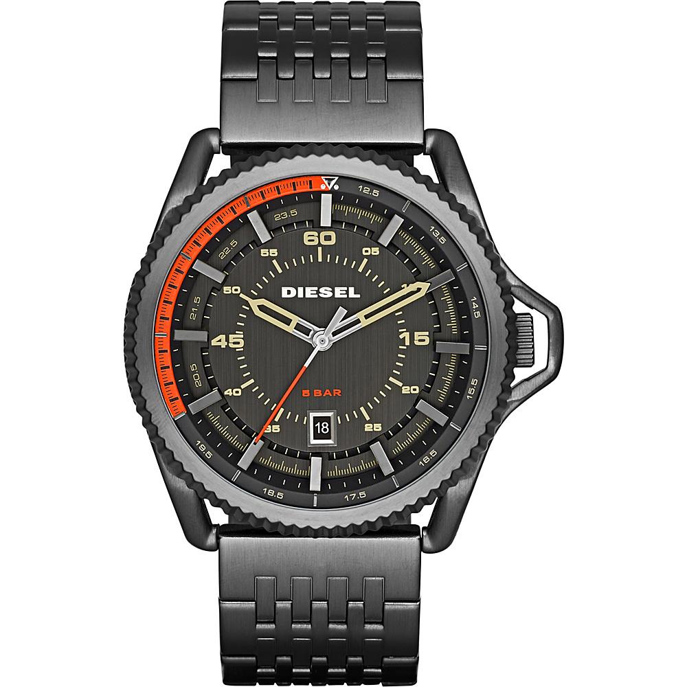 Diesel Watches Rollcage Three Hand Stainless Steel Watch Grey/Orange - Diesel Watches Watches