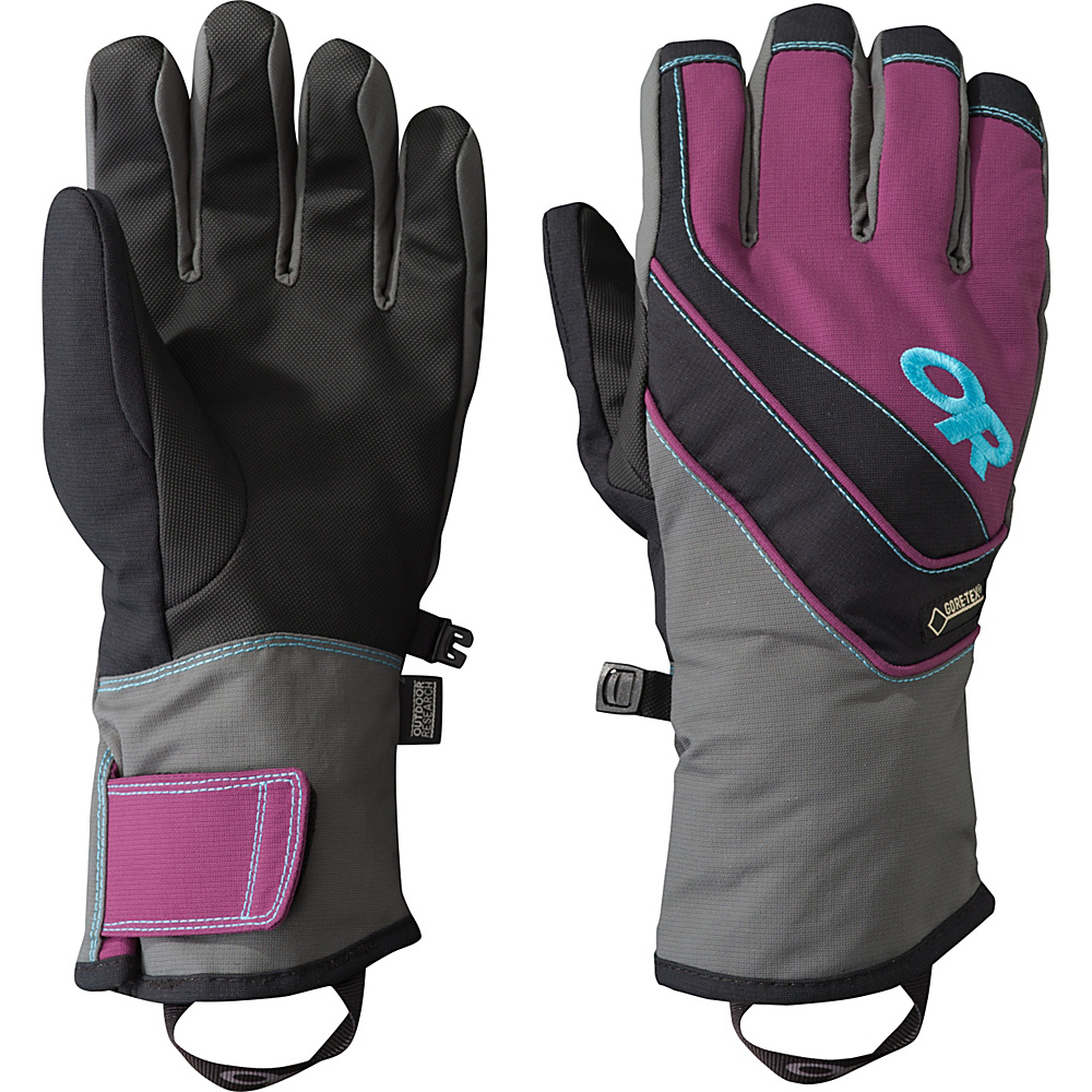 Outdoor Research Centurion Gloves  Womens L - Charcoal/Orchid/Rio – LG - Outdoor Research Hats/Gloves/Scarves - Fashion Accessories, Hats/Gloves/Scarves