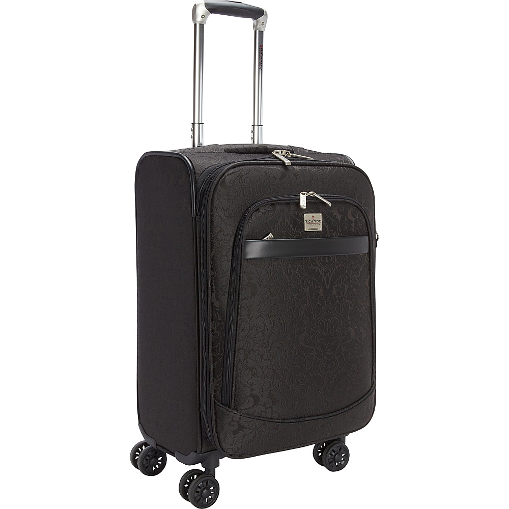 Ricardo Beverly Hills Imperial 20 4 Wheel Expandable Wheelaboard Black Ricardo Beverly Hills Softside Carry On