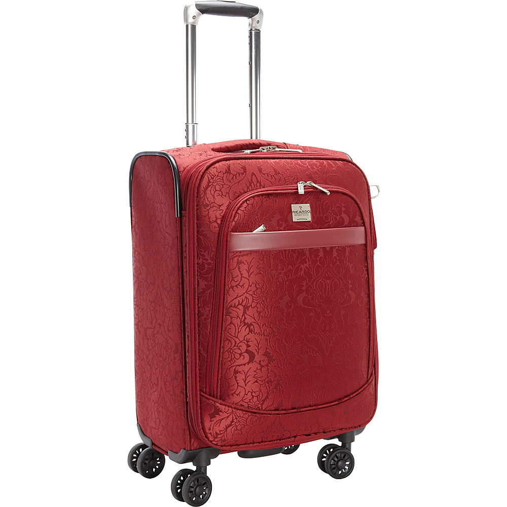 Ricardo Beverly Hills Imperial 20 4 Wheel Expandable Wheelaboard Red Ricardo Beverly Hills Softside Carry On