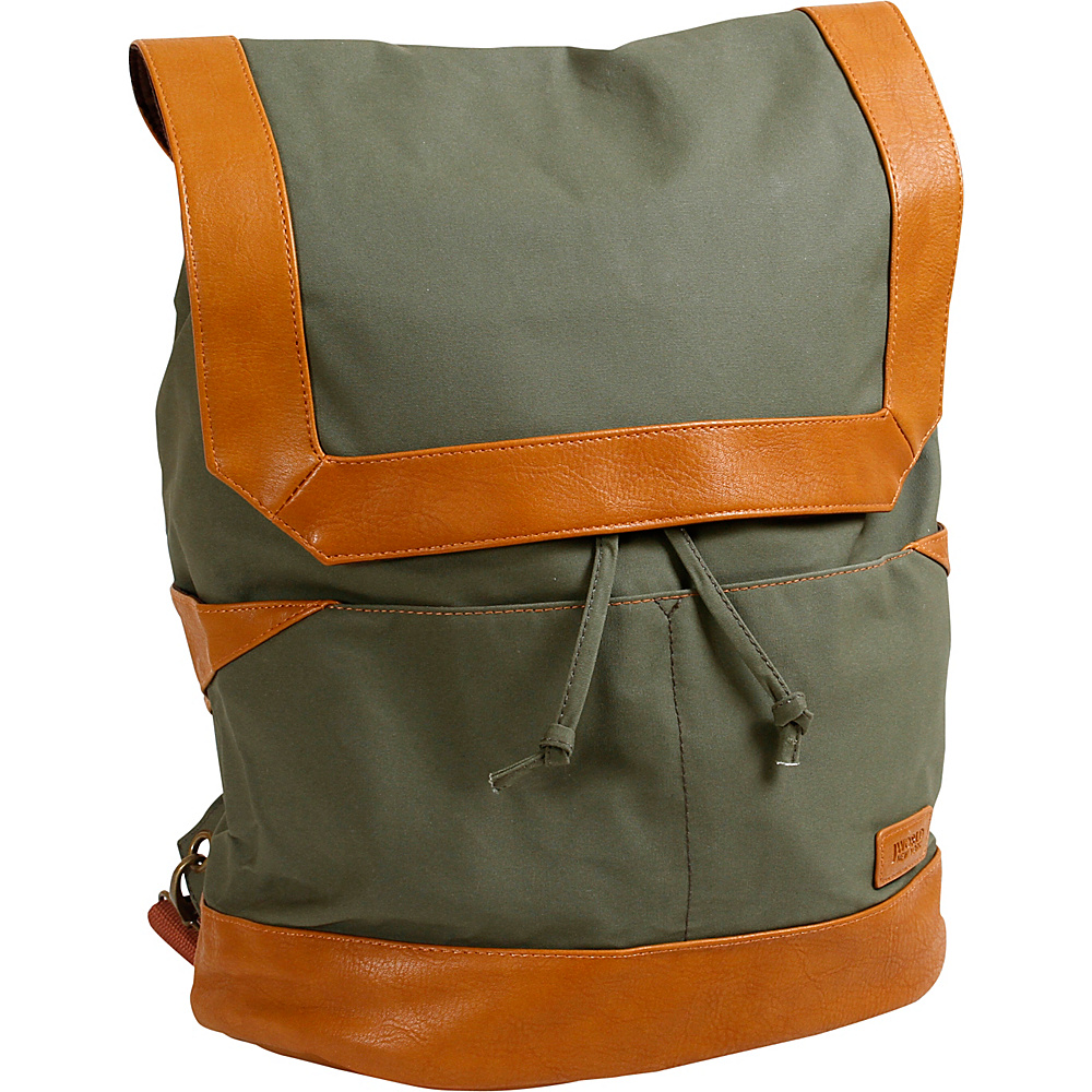 J World New York Alex Canvas Backpack Khaki - J World New York Everyday Backpacks - Backpacks, Everyday Backpacks