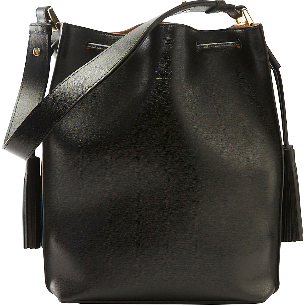 TUSK LTD Madison Carmen Bucket Bag Black TUSK LTD Leather Handbags