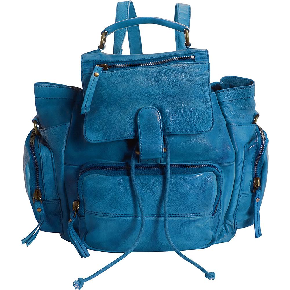 Latico Leathers Felix Backpack Crinkle Blue - Latico Leathers Leather Handbags
