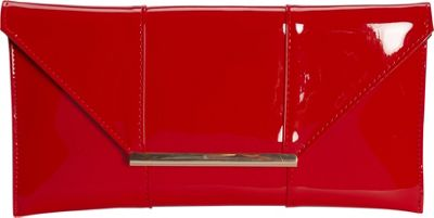 JNB Patent Clutch Red - JNB Evening Bags