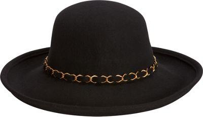 Adora Hats Wool Felt Upturn Hat One Size - Black - Adora Hats Hats