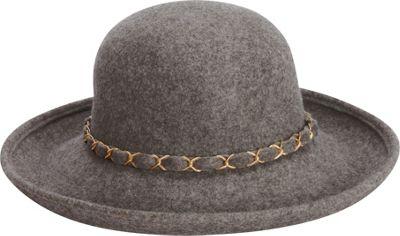 Adora Hats Wool Felt Upturn Hat One Size - Grey - Adora Hats Hats