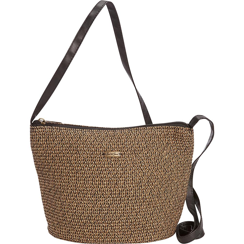 Sun N Sand Morocco Sand Crossbody Black/Gold - Sun N Sand Fabric Handbags - Handbags, Fabric Handbags