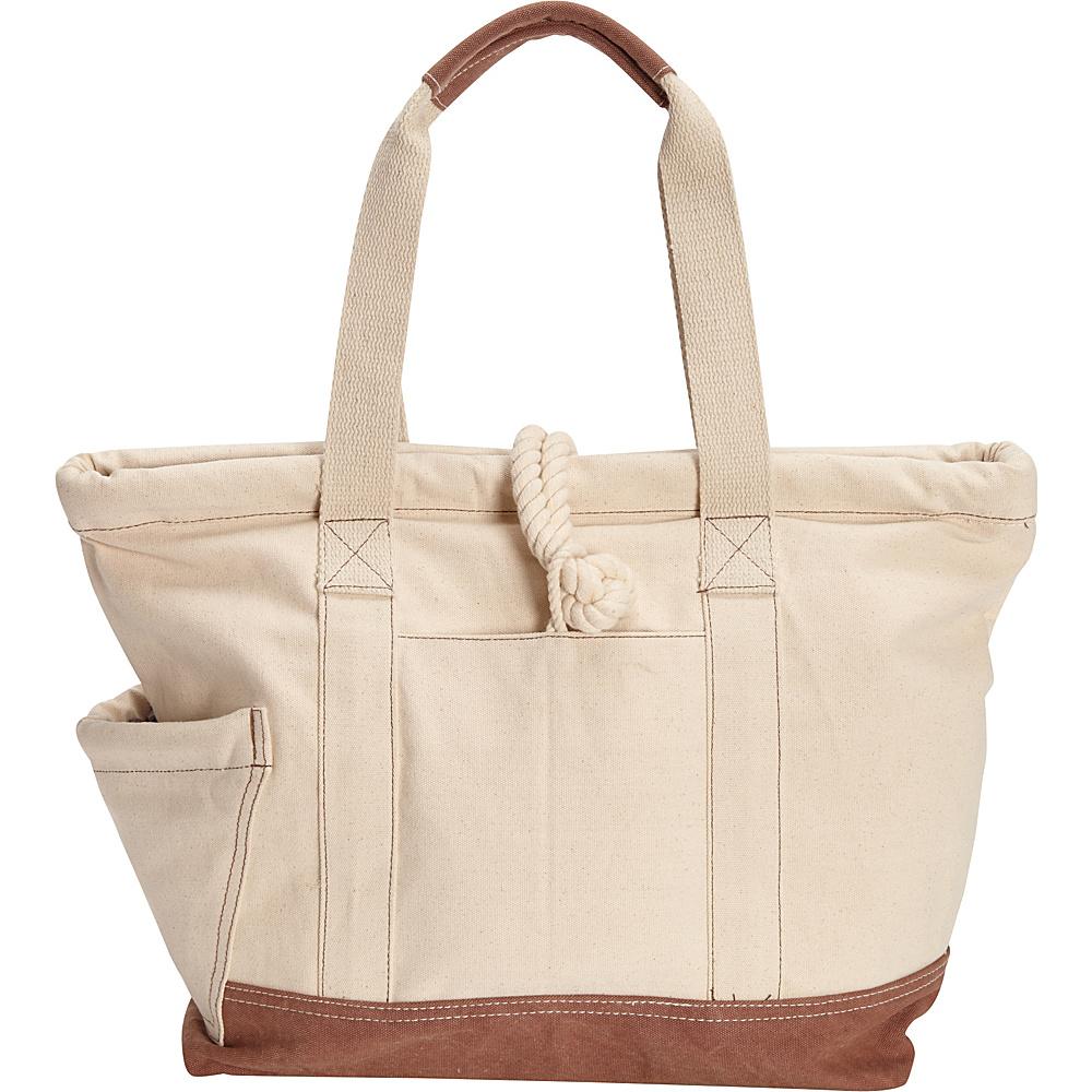 Sun N Sand Regatta Oversized Tote Brown - Sun N Sand Fabric Handbags - Handbags, Fabric Handbags