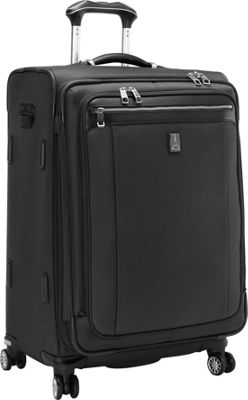 Travelpro Platinum Magna 2 25 inch Expandable Spinner Black - Travelpro Softside Checked