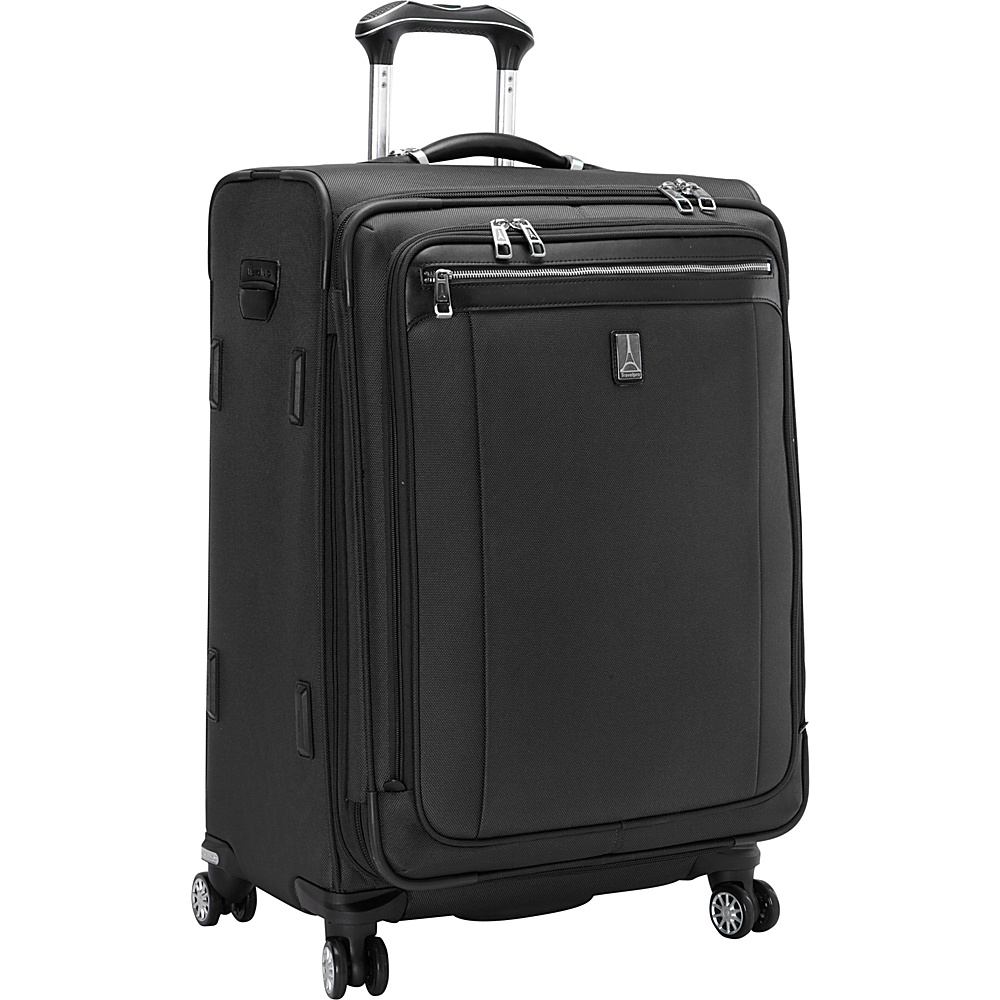 Travelpro Platinum Magna 2 25 Expandable Spinner Black Travelpro Softside Checked