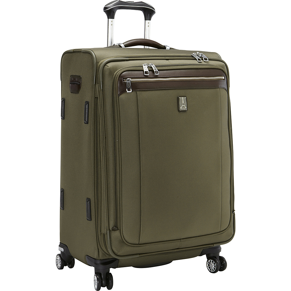 Travelpro Platinum Magna 2 25 Expandable Spinner Olive Travelpro Softside Checked