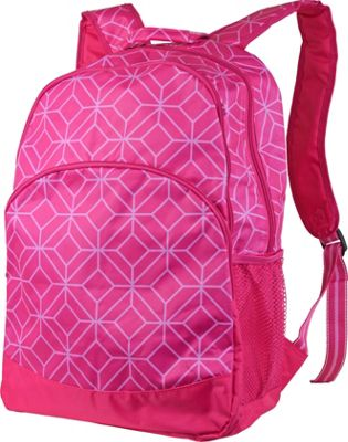 All For Color All For Color Backpack Pink Geo Gem - All For Color Everyday Backpacks