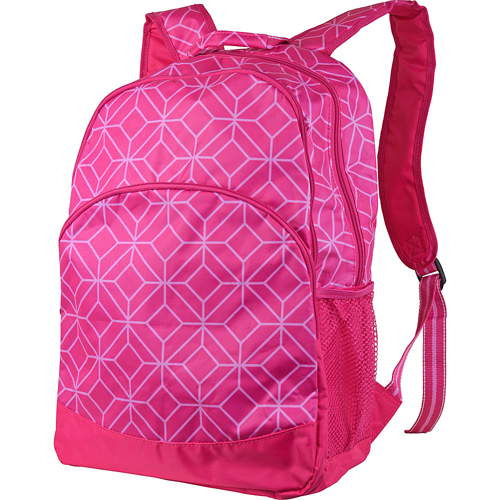 All For Color Backpack Pink Geo Gem All For Color Everyday Backpacks