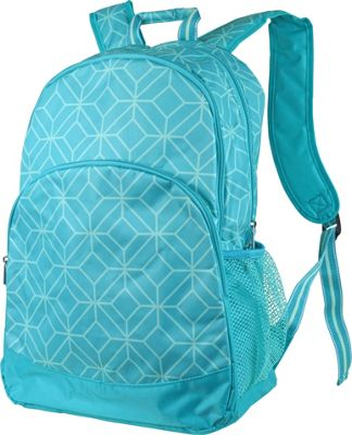 Image of All For Color Backpack Turq Geo Gem - All For Color School & Day Hiking Backpacks