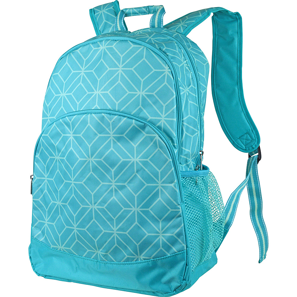 All For Color Backpack Turq Geo Gem All For Color Everyday Backpacks